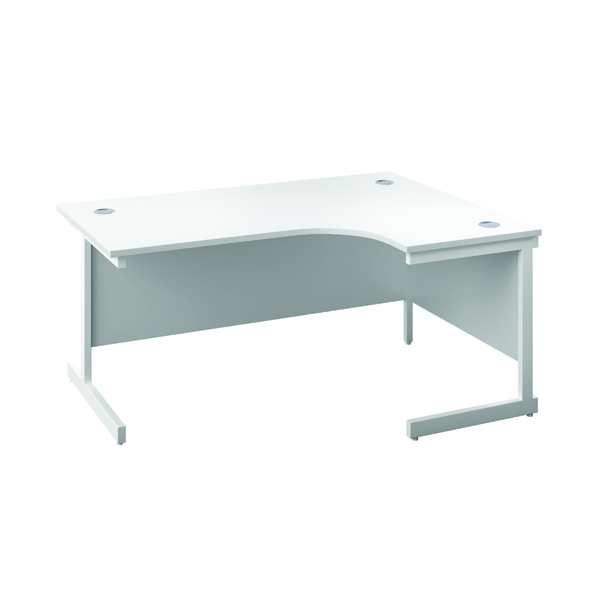 First Right Hand Radial Desk 1600x1200mm White/White
