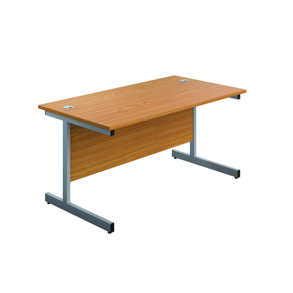 Image for First Single Rectangular Desk 1200x800mm Nova Oak/Silver KF803324
