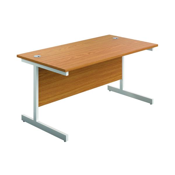 First Single Rectangular Desk 1600x800mm Nova Oak/White