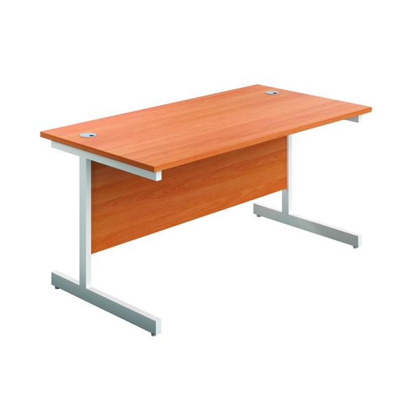 First Single Rectangular Desk 1800x800mm Beech/White