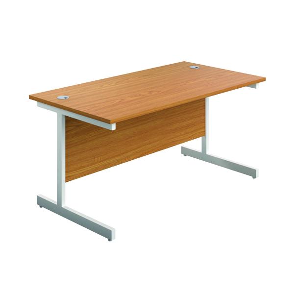 First Single Rectangular Desk 1800x800mm Nova Oak/White