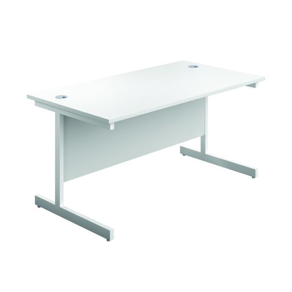First Single Rectangular Desk 1800x800mm White/White