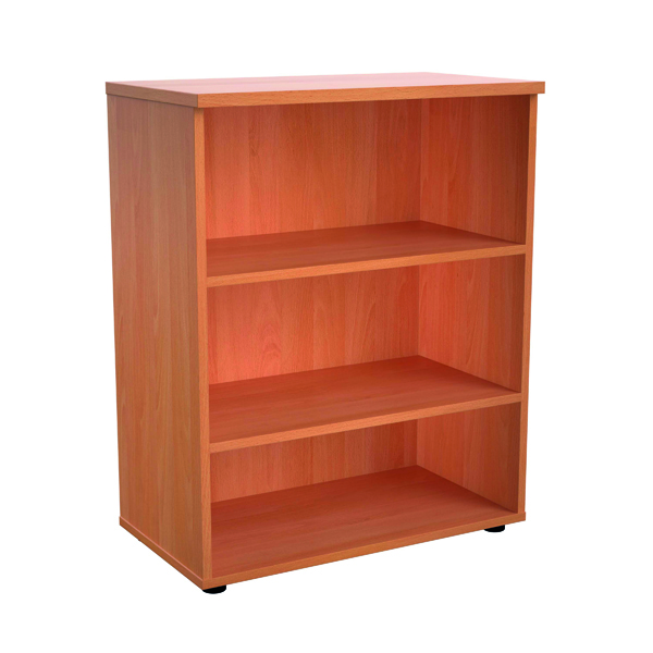 Image for First 1000 Wooden Bookcase 450mm Depth Beech KF803614