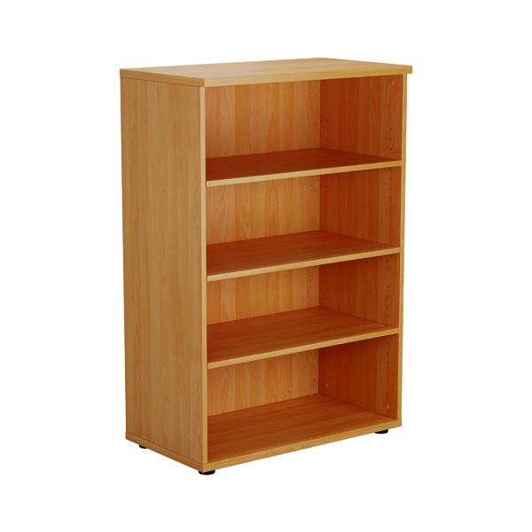 First 1200 Wooden Bookcase 450mm Depth Beech
