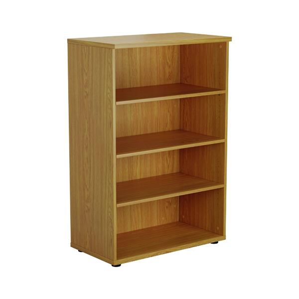 First 1200 Wooden Bookcase 450mm Depth Nova Oak