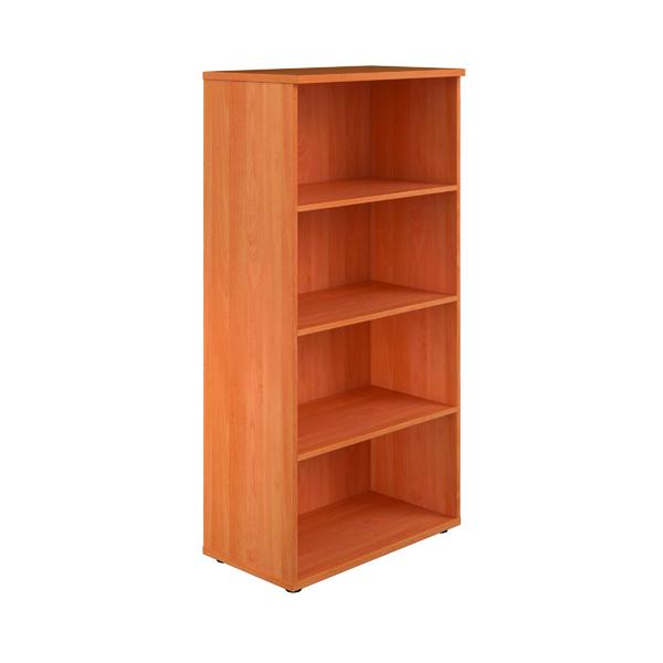 First 1600 Wooden Bookcase 450mm Depth Beech