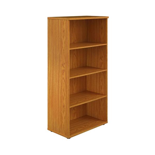 First 1600 Wooden Bookcase 450mm Depth Nova Oak