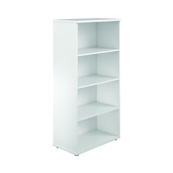 First 1600 Wooden Bookcase 450mm Depth White