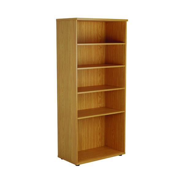 First 4 Shelf Wooden Bookcase 800x450x1800mm Nova Oak