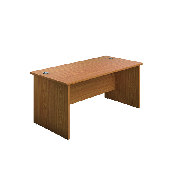 Jemini Rectangular Panel End Desk 1200x800mm Nova Oak