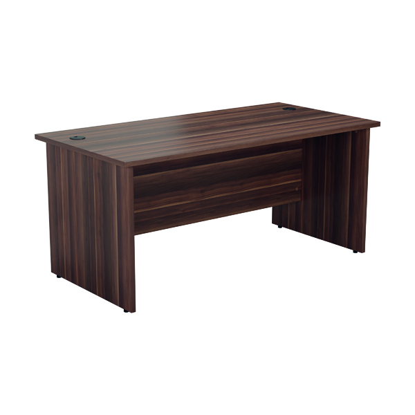Jemini Rectangular Panel End Desk 1400x800mm Dark Walnut