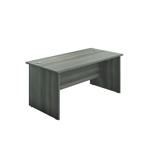 Jemini Rectangular Panel End Desk 1600x800mm Grey Oak