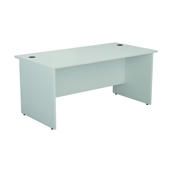 Jemini Rectangular Panel End Desk 1600x800mm White