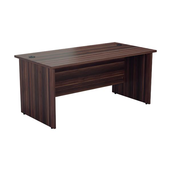 Jemini Rectangular Panel End Desk 1600x800mm Dark Walnut