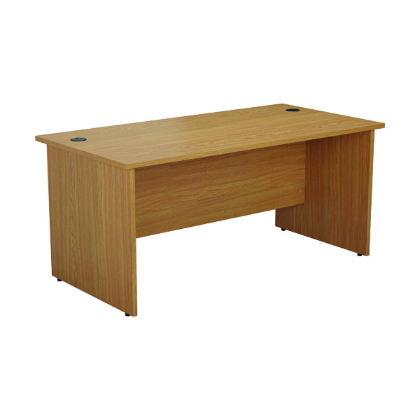 Jemini Rectangular Panel End Desk 1800x800mm Nova Oak