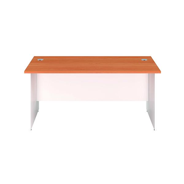 Jemini Rectangular Panel End Desk 1600x800mm Beech/White