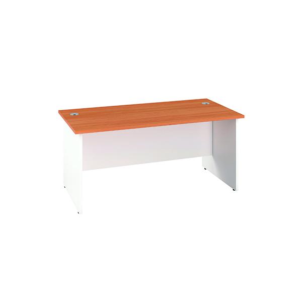 Jemini Rectangular Panel End Desk 1800x800mm Beech/White