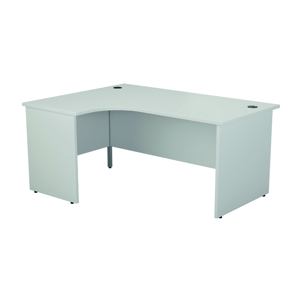 Jemini Left Hand Radial Panel End Desk 1600x1200mm White