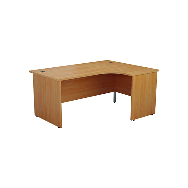 Jemini Right Hand Radial Panel End Desk 1600x1200mm Beech