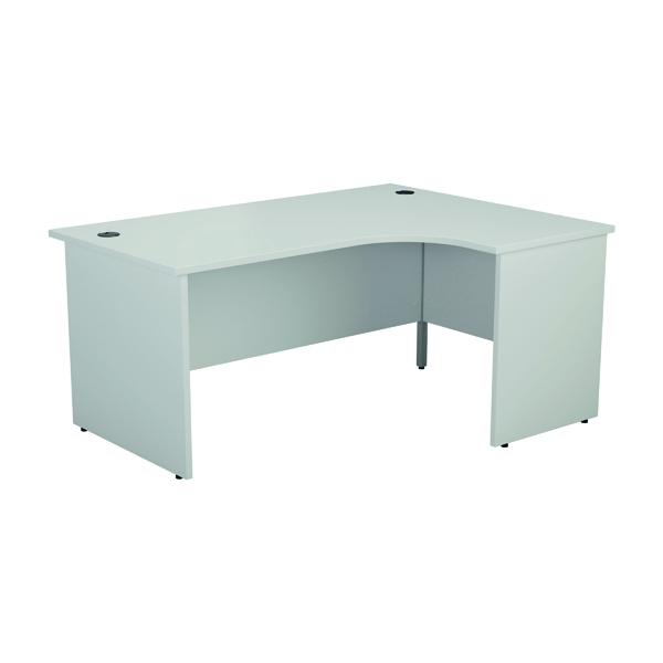 Jemini Right Hand Radial Panel End Desk 1600x1200mm White