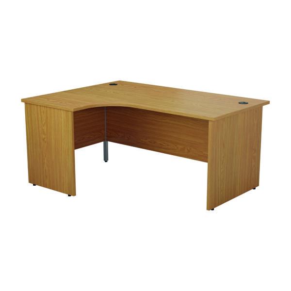 Jemini Left Hand Radial Panel End Desk 1800x1200mm Nova Oak