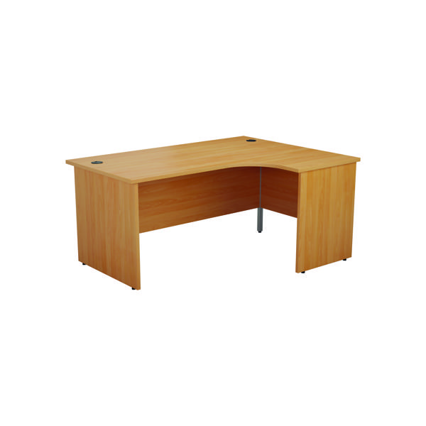 Jemini Right Hand Radial Panel End Desk 1800x1200mm Beech