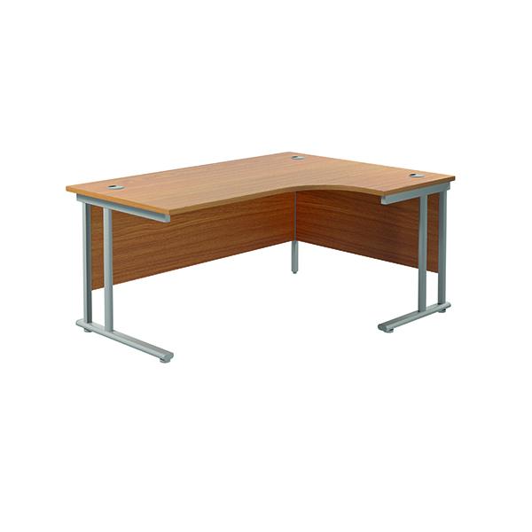 Jemini Cantilever Right Hand Radial Desk 1600 Nova Oak/Silver