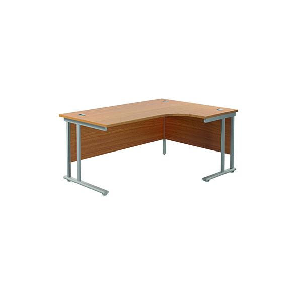 Jemini Cantilever Right Hand Radial Desk 1800 Nova Oak/Silver