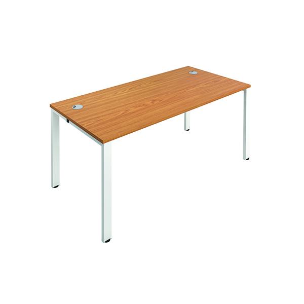 Jemini 1 Person Bench Desk 1200x800mm Nova Oak/White