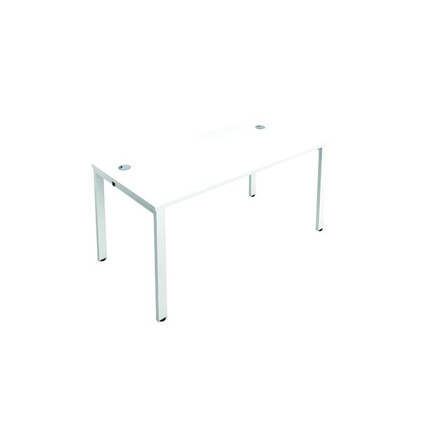 Jemini 1 Person Bench Desk 1200x800mm White/White