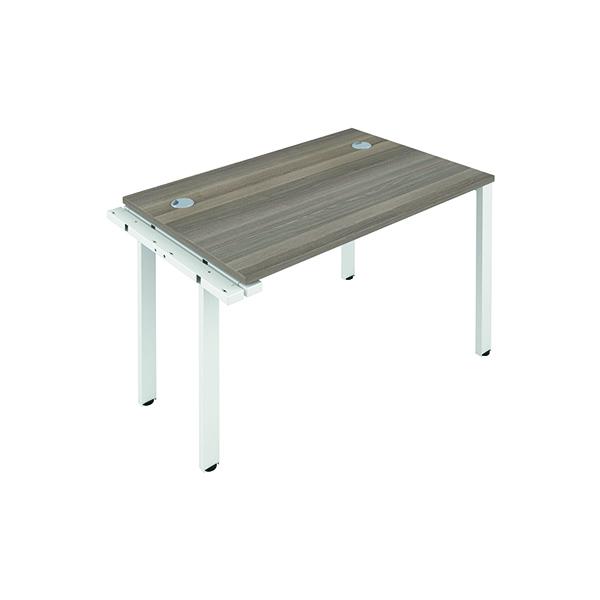 Jemini 1 Person Extension Bench 1200x800mm Grey Oak/White