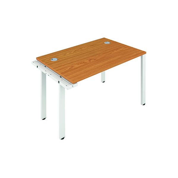 Jemini 1 Person Extension Bench 1200x800mm Nova Oak/White