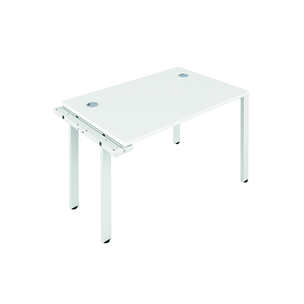 Jemini 1 Person Extension Bench 1200x800mm White/White