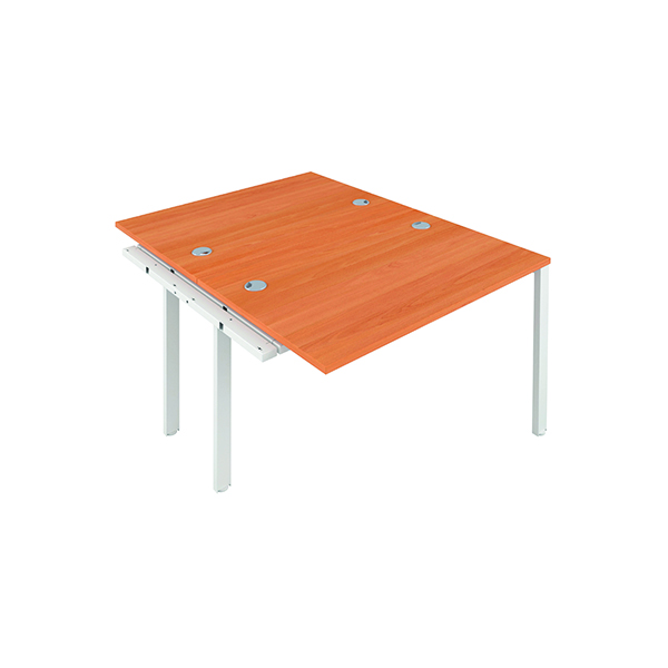 Jemini 2 Person Extension Bench 1200x800mm Beech/White