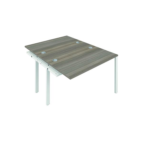Jemini 2 Person Extension Bench 1200x800mm Grey Oak/White