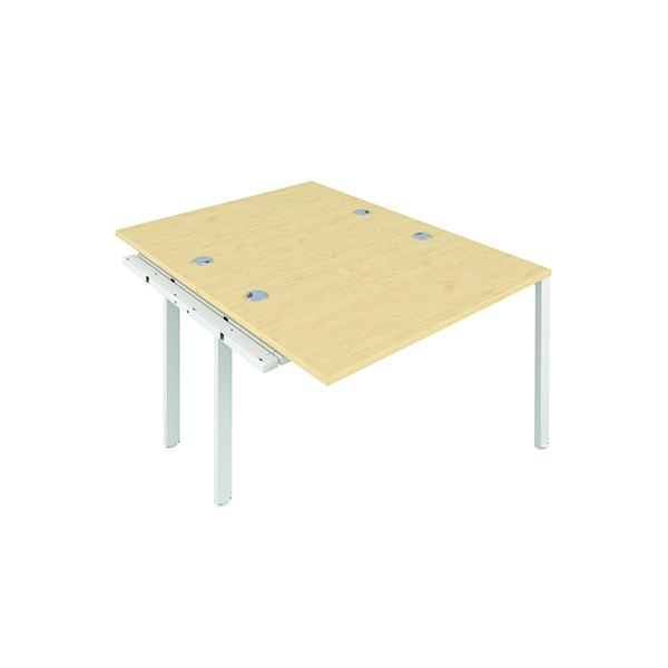 Jemini 2 Person Extension Bench 1200x800mm Maple/White