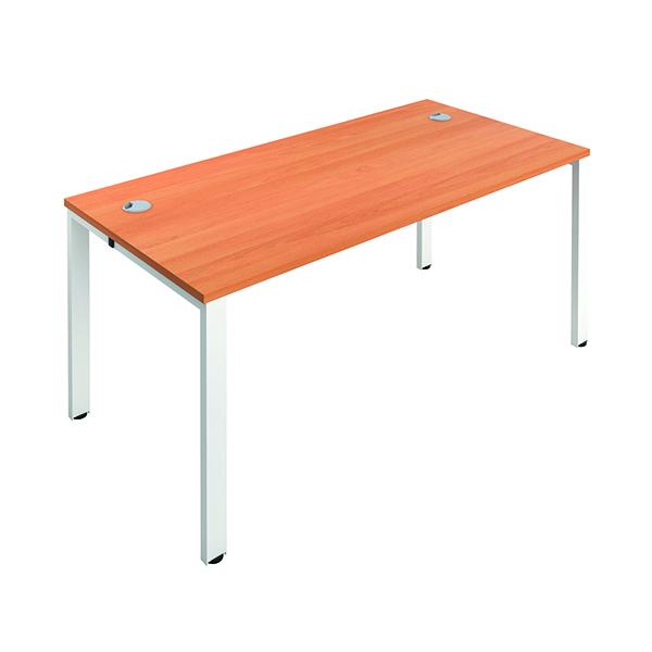 Jemini 1 Person Bench Desk 1400x800mm Beech/White