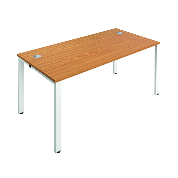 Jemini 1 Person Bench Desk 1400x800mm Nova Oak/White