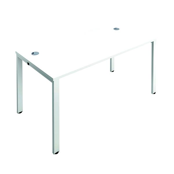 Jemini 1 Person Bench Desk 1400x800mm White/White