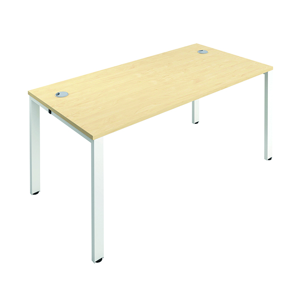 Jemini 1 Person Bench Desk 1400x800mm Maple/White