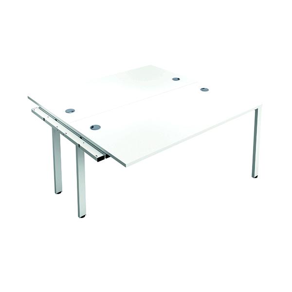 Jemini 2 Person Extension Bench 1400x800mm White/White