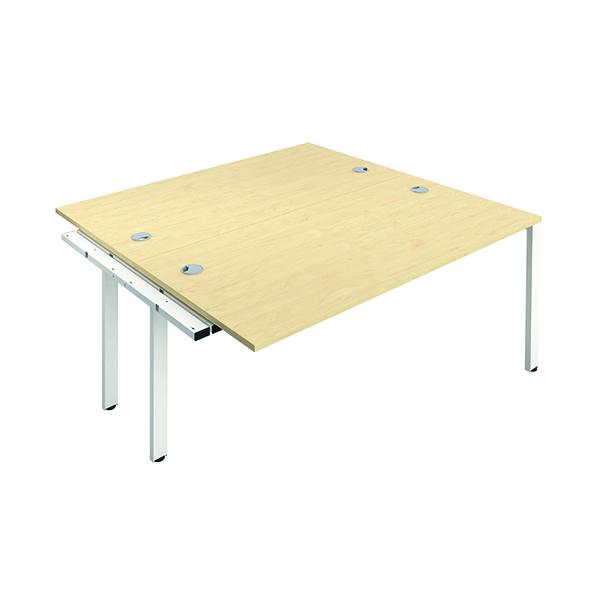 Jemini 2 Person Extension Bench 1400x800mm Maple/White
