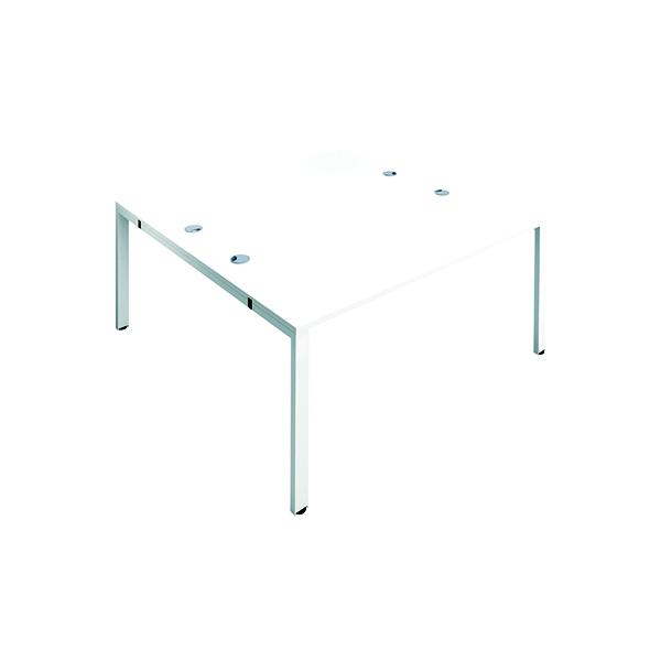 Jemini 2 Person Bench Desk 1400x800mm White/White