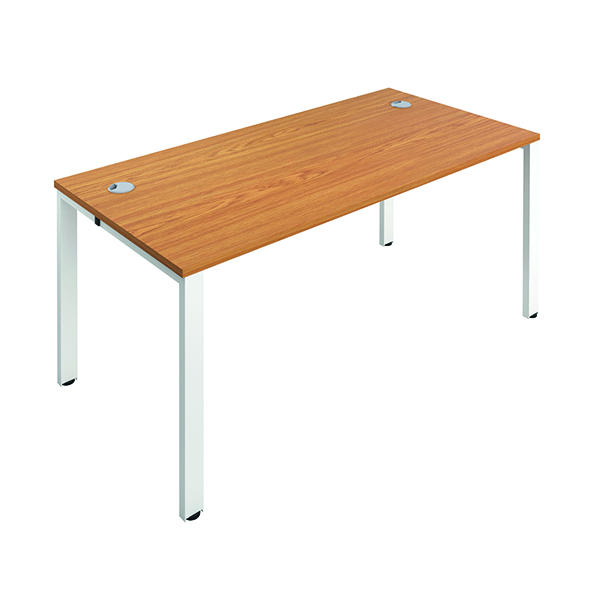 Jemini 1 Person Bench Desk 1600x800mm Nova Oak/White
