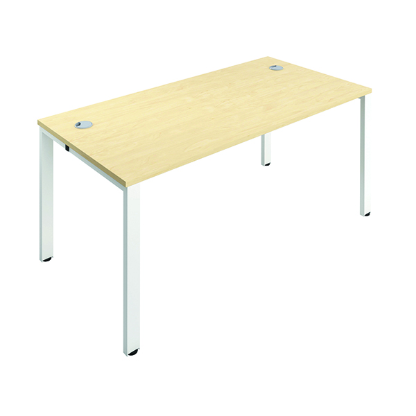 Jemini 1 Person Bench Desk 1600x800mm Maple/White