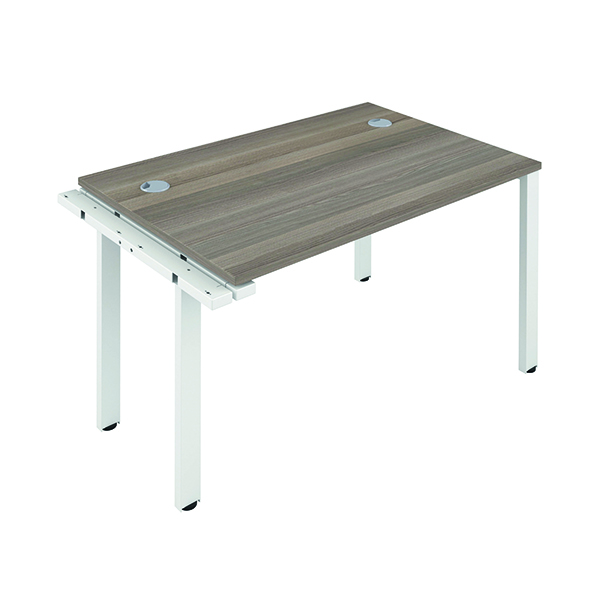Jemini 1 Person Extension Bench 1600x800mm Grey Oak/White