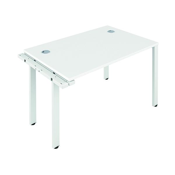 Jemini 1 Person Extension Bench 1600x800mm White/White