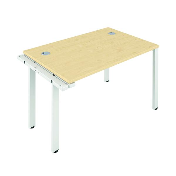 Jemini 1 Person Extension Bench 1600x800mm Maple/White