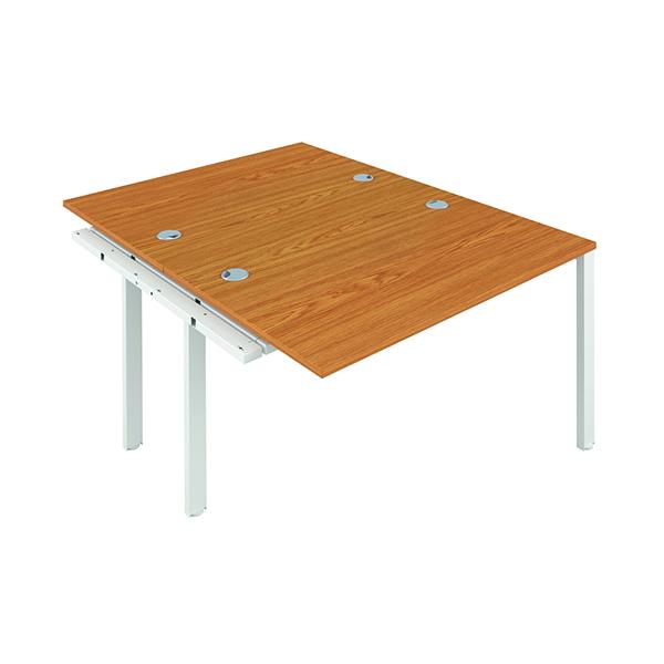 Jemini 2 Person Extension Bench 1600x800mm Nova Oak/White