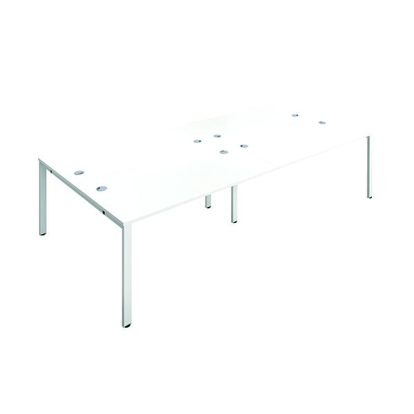 Image for Jemini 4 Person Bench Desk 1600x800mm White/White KF809470